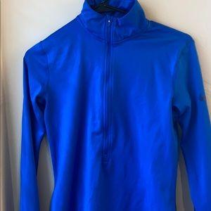 Nike half zip blue